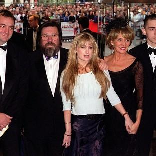 Ricky Tomlinson with the cast of the BBC comedy series The Royle Family