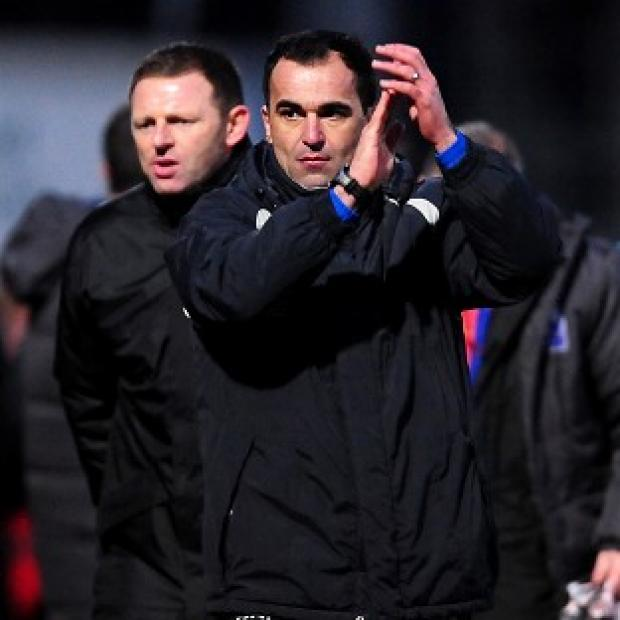 Roberto Martinez, right, was disappointed Wigan could not get three points from Stoke