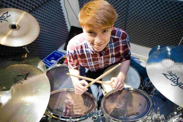 Young drummer in national final
