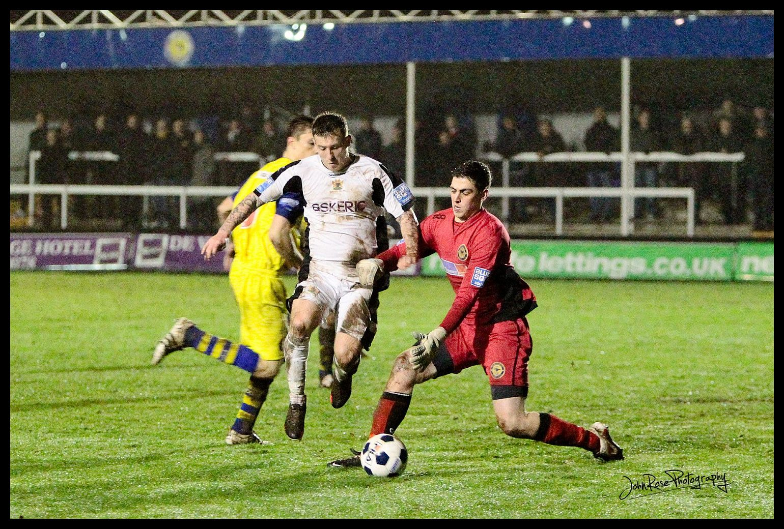 Picture by John Rose: Jamie White scored a conciliation goal for Salisbury during their 2-1 defeat at Farnborough on Tuesday night.