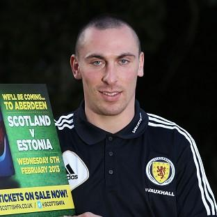 Scott Brown will lead out Scotland for the first time against Estonia