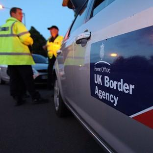 UK officials have taken part in a cross-border crackdown on people-smuggling gangs