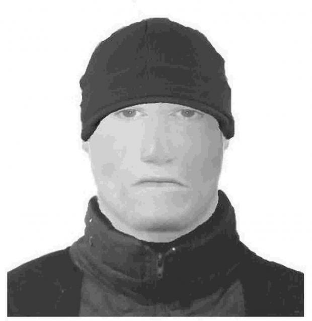 Police efit picture of man wanted for questioning after an attempted robbery outside Morrisons in Verwood last month.