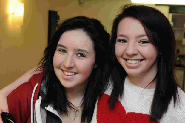 Suzie (left), with best friend Ashleigh Bryant who did the deed.