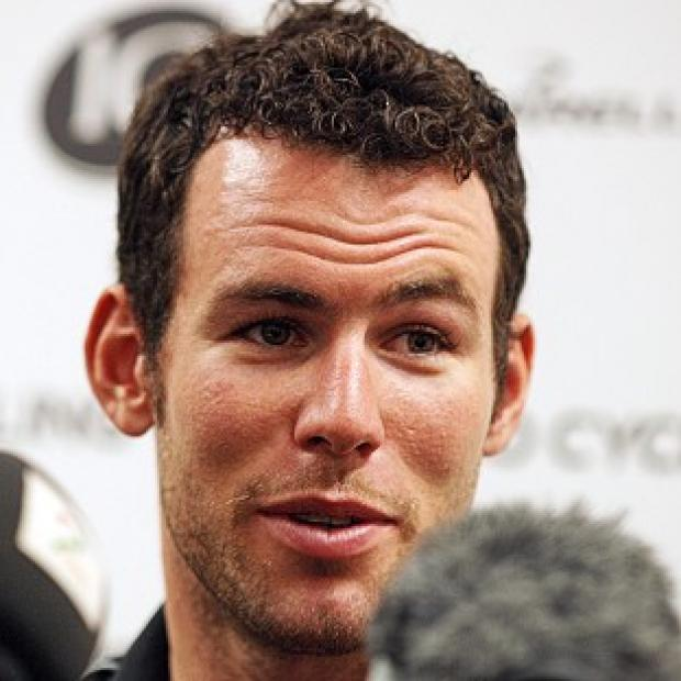 Mark Cavendish, pictured, finished 25 seconds ahead of Brent Bookwalter