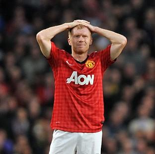 Paul Scholes has been sidelined by a knee injury since late January