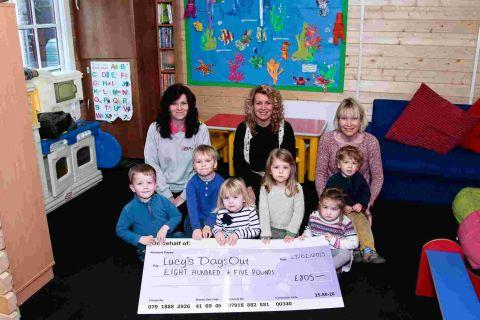 Nursery raises money for Lucy's Days Out