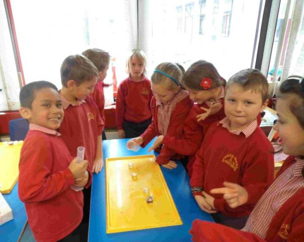 Year 3's Willow Base at Verwood First School enjoy a science day.