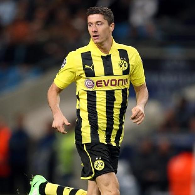 Robert Lewandowski was on target with the first of two equalisers for Borussia Dortmund