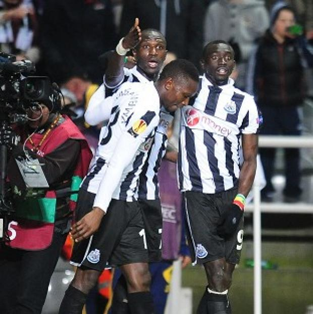 Papiss Cisse, right, had two goals chalked off for offside on Thursday night