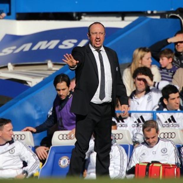 Rafael Benitez, pictured, branded rumours of a rift with John Terry as 'rubbish'