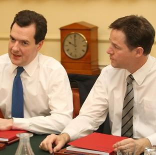 Nick Clegg accused George Osborne of blocking efforts to make the tax system 'fairer'