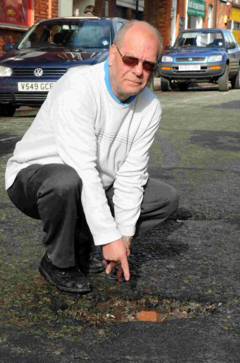 Pothole chaos on the roads