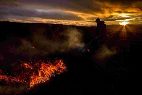 Last year's under-16 award-winning photograph of muirburning.