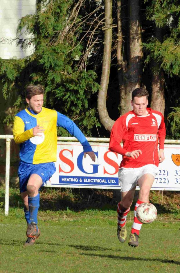 Jack Brooks, pictured, scored for the Robins in the Wiltshire Senior Cup on Tuesday.