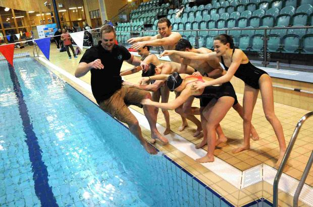 Salisbury Stingrays' swimmers welcome their new coach to the pool