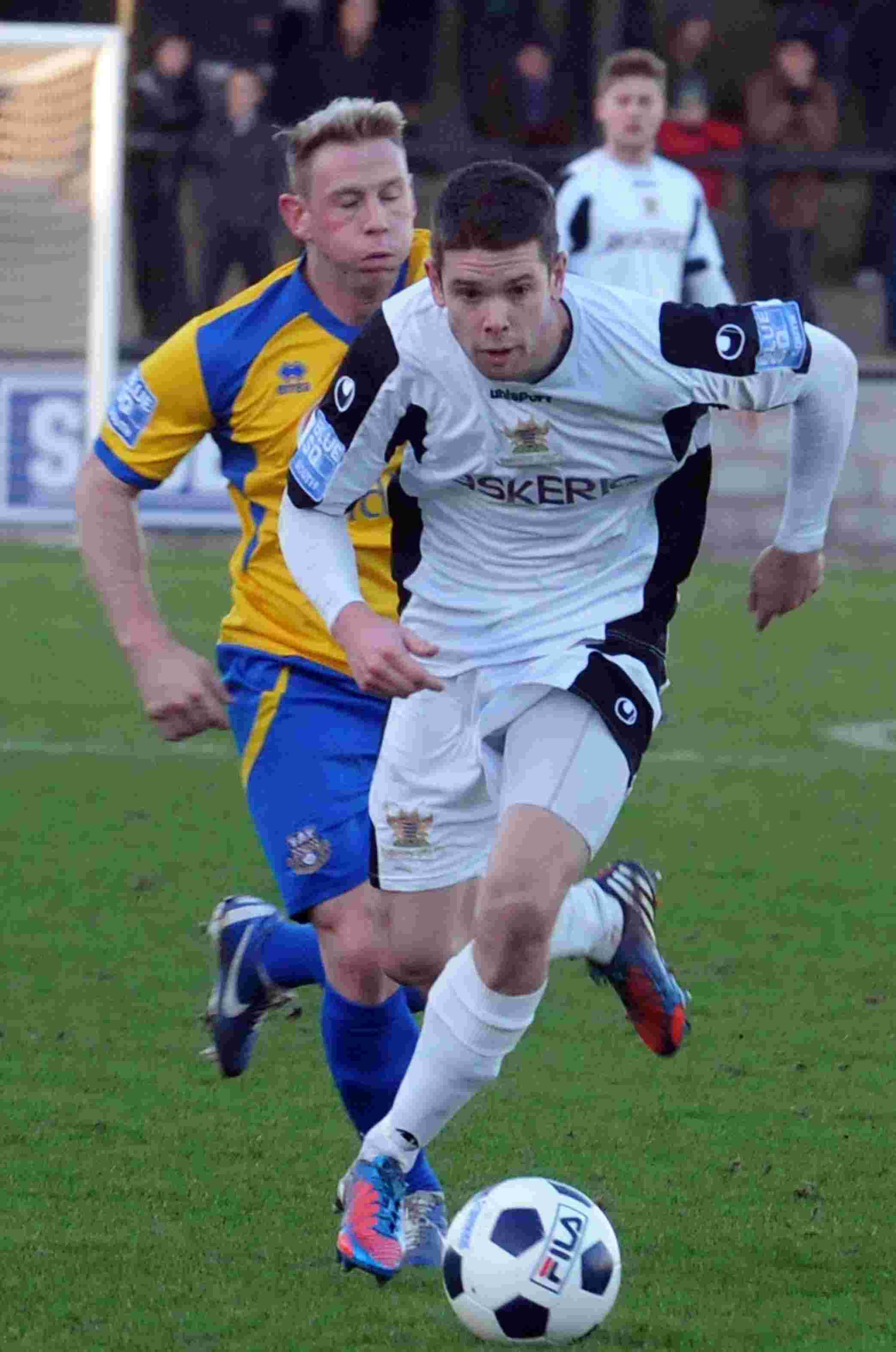 Dan Fitchett, pictured, was on target twice for Salisbury City during their 2-2 draw at Havant & Waterlooville.
