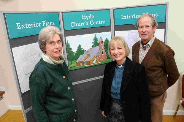 Salisbury Journal: Rev Jenny Alidina with church wardens Heather Clark and Jeremy Houghton-Brown
