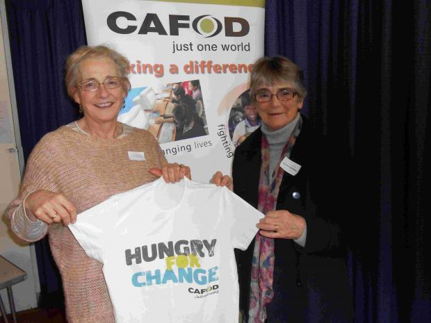 Helen Eales, left, and Jane Saunders, who are part of the group raising funds for CAFOD.