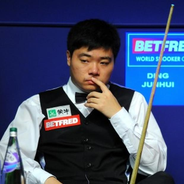Ding Junhui, pictured, set up a second-round meeting with Marco Fu