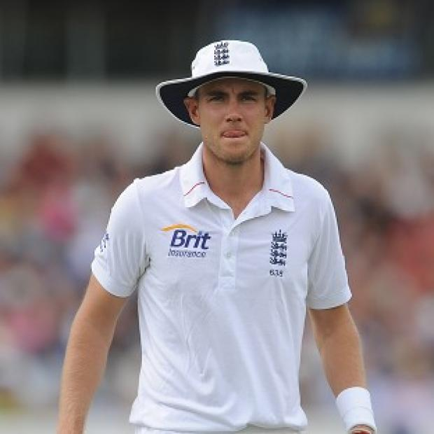Stuart Broad opened the bowling for England on day two