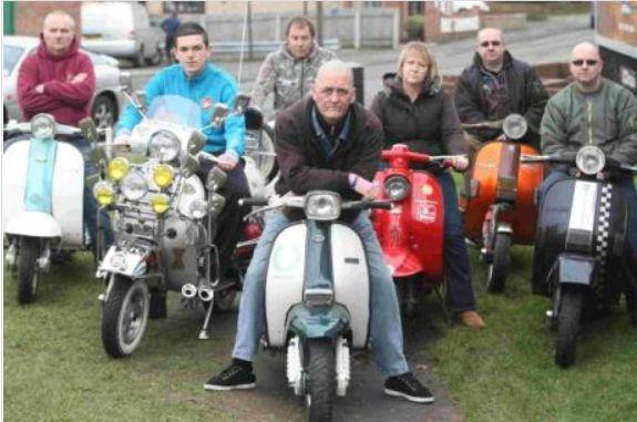 Some of the scooter riders who will be taking part in the search