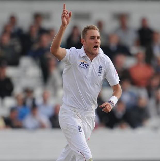 England's Stuart Broad claimed a wicket before and after lunch