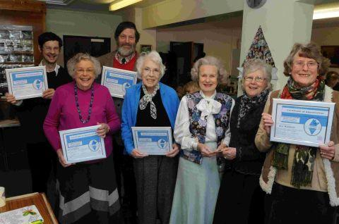 Volunteers rewarded at Jo Benson Day Centre coffee morning