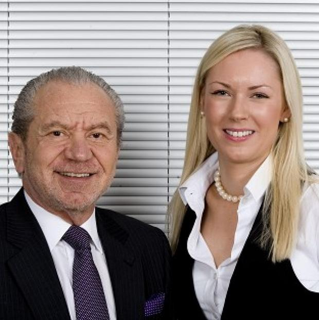 Stella English, right, is suing Alan Sugar for constructive dismissal