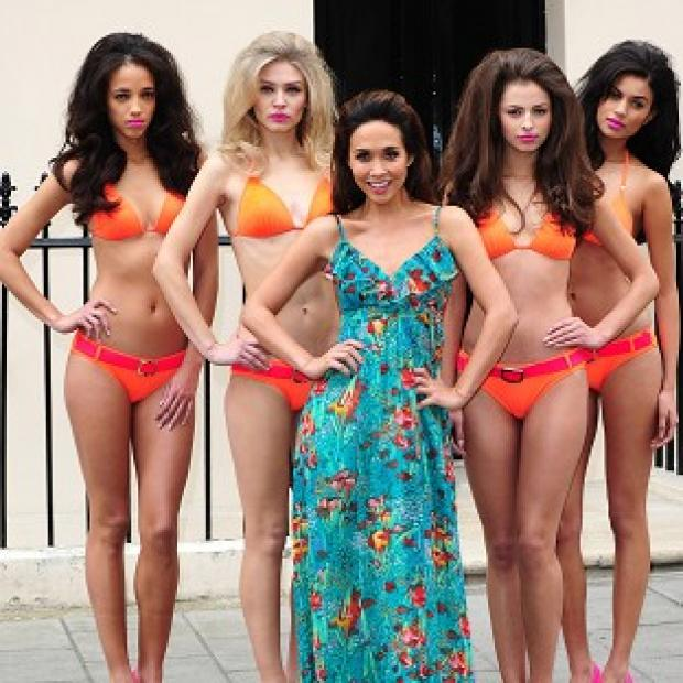 Myleene Klass has unveiled a line of swimwear