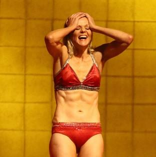 Linda Barker received admiration for her slim figure in ITV diving show Splash!