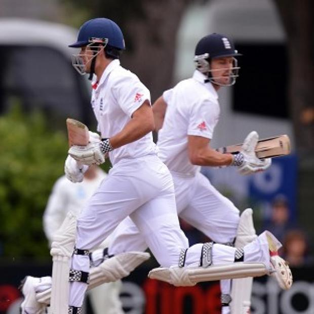 Alastair Cook, left, and Nick Compton will bat on the opening morning