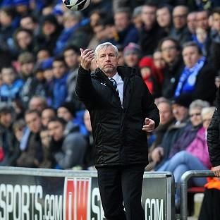 Alan Pardew was not impressed by referee Mark Halsey's performance
