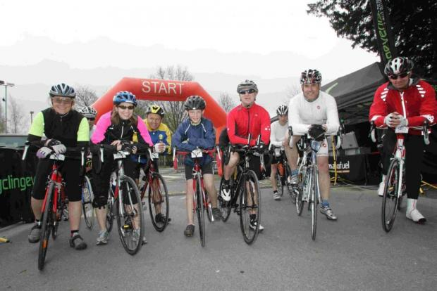 Cyclists at the start of last year's Sportive.