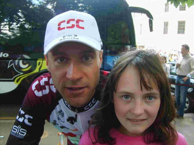 Jens Voigt with Amy Grace.