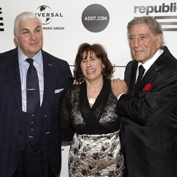 Mitch Winehouse, Janis Winehouse and singer Tony Bennett attend the Amy Winehouse Foundation Inspiration Awards