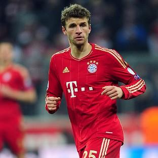 David Alaba and Thomas Muller, pictured, were on target for Bayern Munich