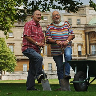 Time Team's Mick Aston, right, pictured with co-presenter Tony Robinson, has died at the age of 66