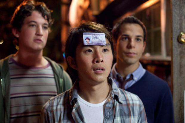 MilesTeller, Justin Chon and Skylar Astin. Picture by PA Photos/Momentum Pictures Home Entertainment.