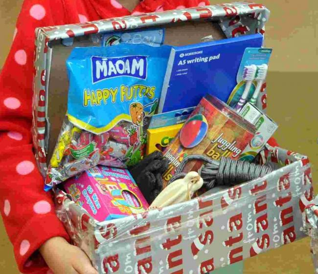 Christmas Shoebox Appeal.Trussell Trust Launches Christmas Shoebox Appeal Salisbury