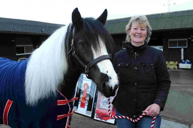 Liz Wright of Moortown Stud, Crow with her amazing horse Frilly
