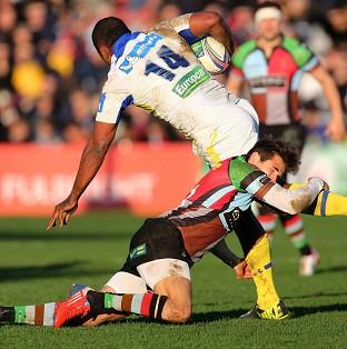 Sitiveni Sivivatu, number 14, scored a late try as Clermont secured a qu