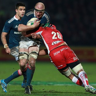 Paul O'Connell helped Munster secure a 20-7 win at Gloucester