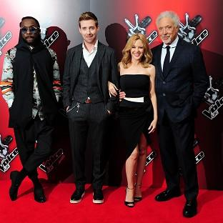 Will.i.am, Ricky Wilson, Kylie Minogue and Sir Tom Jones