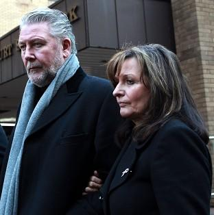 Salisbury Journal: Tommy Walsh and his wife Marie leaving Southwark Crown Court after Leanne Bloomfield was found guilty of attacking their daughter Natalie.