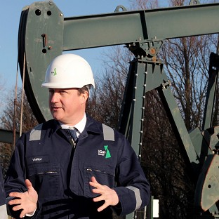 Prime Minister David Cameron visited the IGas shale drilling plant oil depot near Gainsborough, Lincolnshire, on Monday