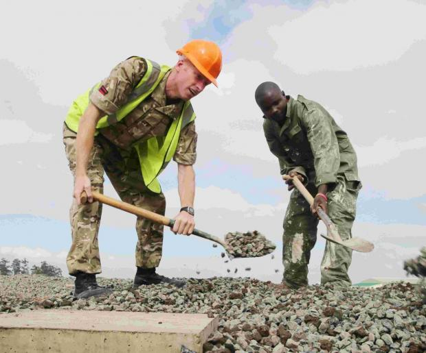 Squadron builds new camp for Kenyan unit