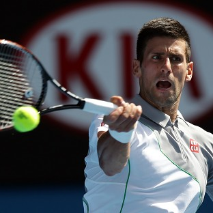 Novak Djokovic, pictured, took just over an hour and a half to beat Fabio Fognini (AP)