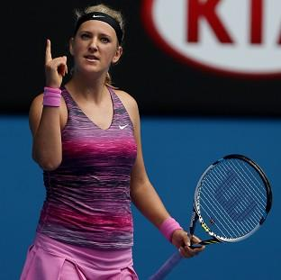 Victoria Azarenka saw off Sloane Stephens to reach the quarter-finals of the Australian Open (AP)