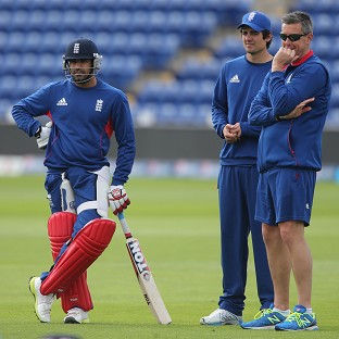 Ravi Bopara, left, insists Alastair Cook, centre, is the right man to lead England